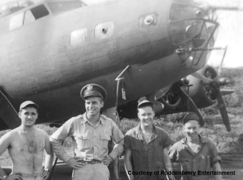 Gene 2nd from the left with B-17 41-2644